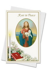 Living Grace Mass Card Deceased Envelope Good Shepherd 50 Piece