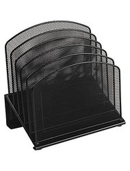 Staples Black Wire Mesh 5-Section Incline Sorter