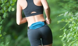 B1g1 Revjams Expandable Sports Fitness Waist Pack: Green/blue