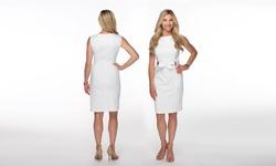 Ellen Tracy Women's Stagger Neck Pocket Dress Sice-10