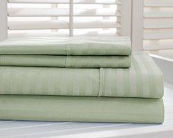Hotel New York Dobby Stripe 1000tc Cotton-rich Sheets: Sage/queen