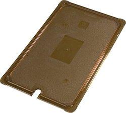 Carlisle 10417U13 StorPlus High Heat Universal Flat Surface Notched Food Pan Lid, Full Size, Amber