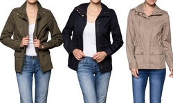 Women's Three-pocket Military Jacket: Olive/large