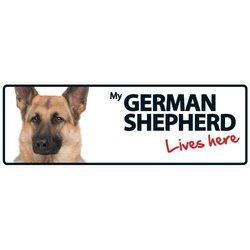 "Magnet & Steel ""German Shepherd Lives Here"" Plastic Sign"