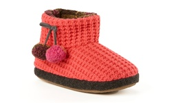 Cuddl Duds Women's Lena Slipper Boots - Coral - Size: 7/8