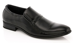 Franco Vanucci Men's Slip-On Dress Shoes - Black - Size: 8