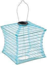 Allsop Home and Garden Soji Silk Effect Square Solar Lantern - Sky Blue