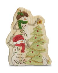 "Pavilion Gift 7"" Heavenly Winter Woods Seasons Greetings Snowman Figurine"
