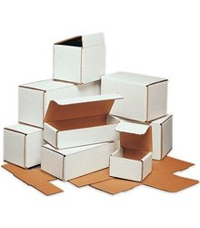 """Box Partners M1264 Mailer Category 12"""" x 6"""" x 4"""" Corrugated Boxes - White"""