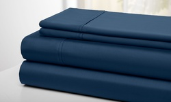 Wexley Home 300TC 100% Cotton Super Soft Sheet Set - Navy - King