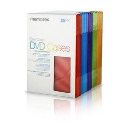 Memorex Cool Color Slim DVD Storage Cases - Pack of 25