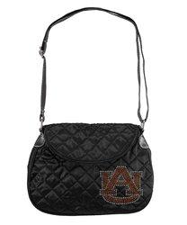 NCAA Auburn Tigers Women's Sport Noir Quilted Saddle Bag - Black