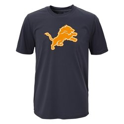 NFL Detroit Lions Boys Performance Tee - Charcoal Size: Medium (10-12)