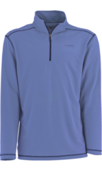 White Sierra Men's Techno 1/4 Zip Performance Shirt - Blue - Size: Large