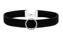 Velvet Choker Necklace with Swarovski Elements - Black Velvet