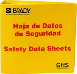 "Brady 3"" Spanish Safety Data Sheet Binder"