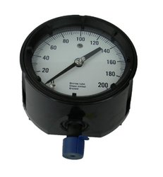 "Ashcroft Duragauge Black Phenolic Case 4.5"" Dial Brass Tip Pressure Gauge"