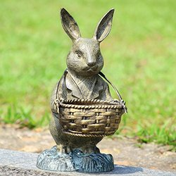 Bunny Butler With Basket - 33757 by SPI Home