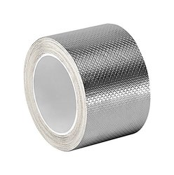 """3M 6 yd L x 2"""" W Silver Tin/Copper/Acrylic Adhesive Embossed Foil Tape"""