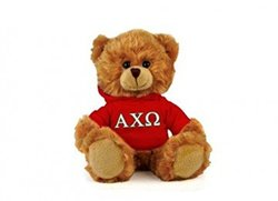 "Alpha Chi Omega 6"" Plush Teddy Bear"