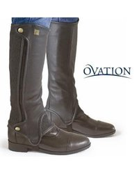 """Ovation Precision Fit Black Half Chaps - Calf:13"""" Calf Height:16"""" Height"""