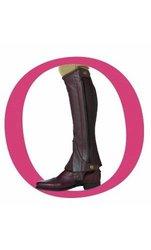 Ovation - Child Pro Top Grain Leather Half Chaps , Brown/Black , B12-14
