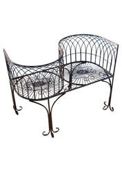 Design Toscano Lia Round Steel Garden Bench