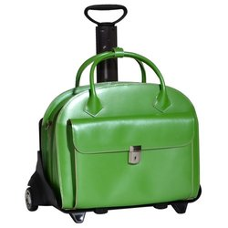 Glen Ellyn Detachable-Wheeled Ladies Briefcase - Blue