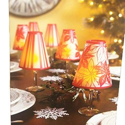 Party Time Lamp Shades w/ 6 Super Bright Tealight: Red (6-Pack)