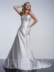 Dere Kiang Strapless Sweetheart A-Line Wedding Gown - Ivory - Size: 16