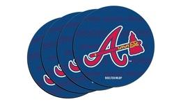 MLB Atlanta Braves Neoprene Car Coasters - Pack of 4