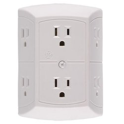 Hi Res 6-Power Outlet Tap Self Recording Spy Camera