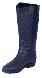Rain Boots: RB-1904-Black Tufted/9