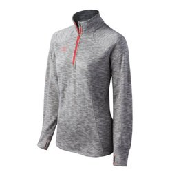 Mizuno Women's Flex 1/2 Zip Top - Gray/Orange - Size: XXS
