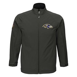 NFL Baltimore Ravens Boys (8-20) Soft Shell Jacket - Grey - Size: Small