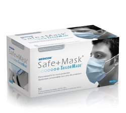 Medicom Safe+Masks ASTM 2100 50 Per Box (Blue)