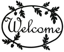 Village Wrought Iron WEL-178 Acorn Welcome Sign