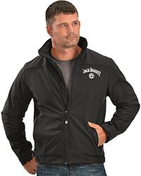 Jack Daniels Men's Daniel's Softshell Zip-Up Jacket - Black - Size: Large