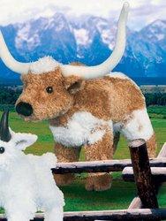 """Douglas Cuddle Toys Longhorn Steer Soft Cuddly Farm Barnyard Animal 8"""""""