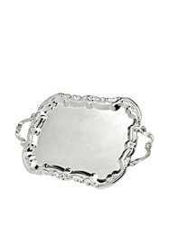 Silver Rectangular Serving Platter Tray With Handles