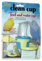 JW Pet Insight Clean Cup Feed & Water Cup - Size: Small