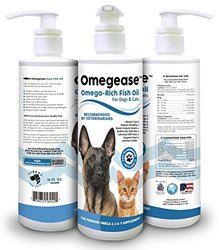 100% Pure Omega 3, 6 & 9 Fish Oil for Dogs and Cats - Best Supplement For Skin, Coat, Joint, Heart Health & Boosts Immunity - Liquid From Wild Caught Fish - Better Source of DHA & EPA Than Alaskan Salmon Oil - Results in 30 Days or Your