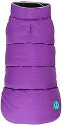 "Fab Dog Reversible Puffer Vest Dog Jacket, Purple/Black, 12"" Length"