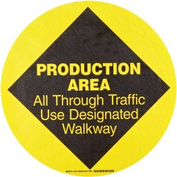 Brady 97616, Floor Safety Sign (Pack of 10 pcs)