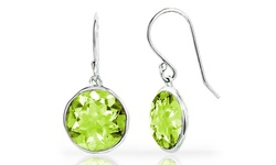 3.00CTTW Lollipop Drop Sterling Earrings - Peridot