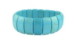 Turb38 Women's Wide Bracelet - Turquoise - Size: 20mm