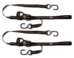 EK Ekcessories Power Cat Stripe Dual Safety Clip Tie - Black/Orange - 2PK
