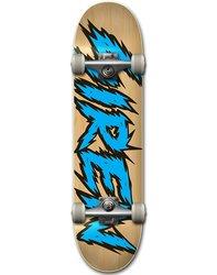 Siren Team Shocker Natural Veneer Skateboard Deck - Blue - Size: 7.75