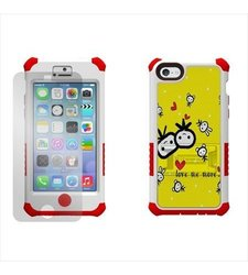 Beyond Cell Screen Protector for Apple iPhone 5C Lite - White/Red