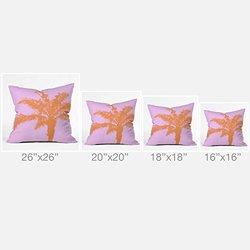 DENY Designs Deb Haugen Orange Palm Outdoor Throw Pillow, 18 x 18